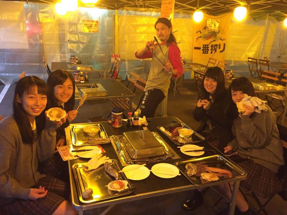 ランチママ会&ディナーママ会しませんか♪【出張牡蠣小屋】牡蠣奉行inイオンモール川口