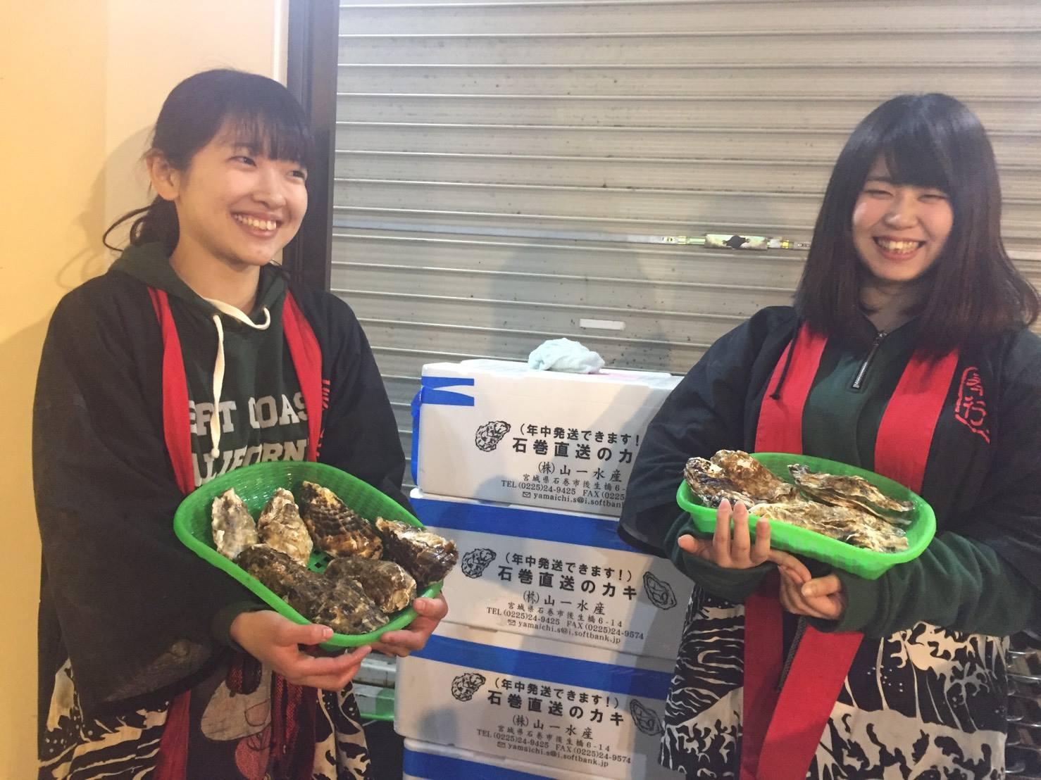 牡蠣が1年で1番美味しい季節♪【出張牡蠣小屋】牡蠣奉行in津田沼パルコ